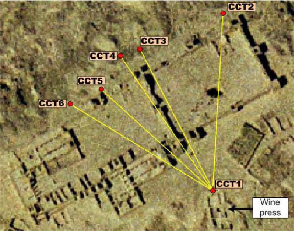 Plan du réseau des cheminées